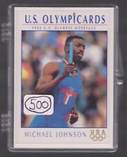 (500) 1992 US OLYMPIC HOPEFULS MICHAEL JOHNSON CARDS #87 ~ GIANT LOT 200M & 400M