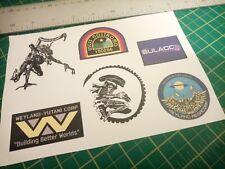 aliens weyland yutani xenomorph sticker Set