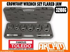 TOLEDO 321086 - CROWFOOT WRENCH SET - FLARED JAW 8 PC - HARD TO REACH ACCESS