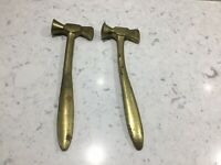 A Pair Of Vintage Brass Toffee Hammers/Nut Crackers