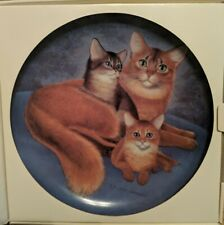 Bing & Grondahl Somali & Kittens Cat Portraits Collectible Aspca Plate