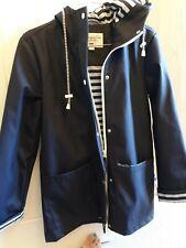 Navy Raincoat Zip From Harvey And Jones Size 8 with hood