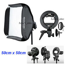 "Godox 50 x 50cm 20"" Soft Box Softbox+S Bracket for YN460 YN560 II III IV Flashes"