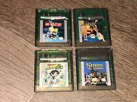 4 Game Lot Nintendo Game Boy Color Harry Potter Lego Alpha Shrek PowerPuff