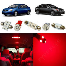 6x Red LED lights interior package kit for 2007-2012 Nissan Sentra NS1R