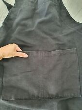 Black kitchen cooking apron thick material size L