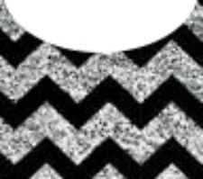 20 water slide nail art transfer silver black chevron french tip trending