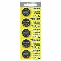 5 x New Original Toshiba CR2032 3V LITHIUM BATTERY BR2032 DL2032-Expiration 2030