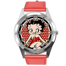 BETTY BOOP CARTOON FILM STAR PINUP GIRL RED LEATHER ROUND TV CD DVD WATCH