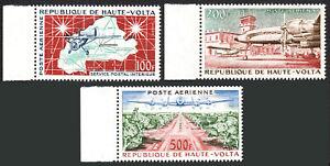 Burkina Faso ( Supérieur Volta) C1-C3,Mnh.air Post.map Et Plat ; Lane At