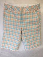 Women's Puma Bermuda Plaid Dry Cell Golf Shorts Size 2
