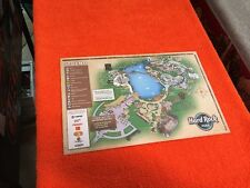 Hard Rock Music Park Map Rare 2008 Info Myrtle Beach Amusement Closed