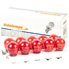 10 x 382 RED 12V P21W Car Stop Brake Tail Fog Light Single Filament Bulbs BA15S