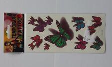 Sticker Tatouage Autocollant Temporaire Tattoo****Papillons  3 D ****