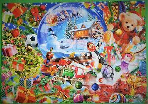 """CHRISTMAS GLOBE "" BLUEBIRD 1000 PIECE PUZZLE MINT COMPLETE CONDITION L@@K!"