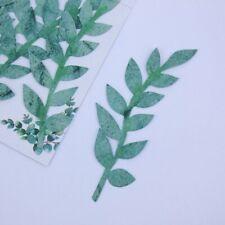 Foilage Green Leaves 6pcs Embellishment Handmade