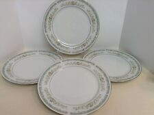 Roseville Translucent Fine China #4135 Made in Japan Set of 4 Dinner Plates