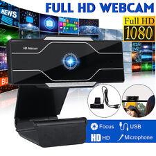 Webcam 1080P Full HD Mikrofon WebKamera Kamera USB für Videochat Laptop