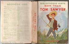 MARK TWAIN # TOM SAWYER # 1950 BIBLIOTHEQUE VERTE + JAQUETTE
