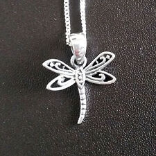 925 Sterling Silver Necklace with Dragonfly pendant gift uk
