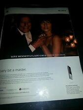 Tony Bennett and Lady Gaga Cheek To Cheek Rare Sony Promo Poster Ad Framed!