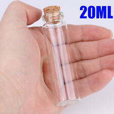 100X 20ML Clear Glass Bottles With Corks Small Vials Jars Empty Wholesale