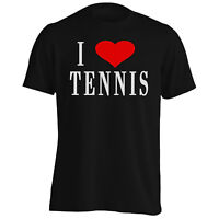 I Love TENNIS Funny Novelty New  Men's T-Shirt/Tank Top h32m