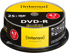 Intenso DVD-R 16x Speed 4,7GB 120 Minuten DVD Rohlinge Brenner 25er Spindel