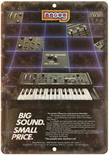"""MOOG Keyboard Synthesizer Vintag Ad 10"""" x 7"""" Reproduction Metal Sign E21"""
