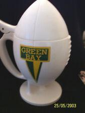 New listing Vintage 1960's Green Bay Packers  Football Shaped Hard Plastic Hinged Mug