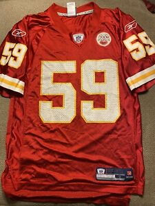 Mens Reebok DONNIE JOHNSON #56 Kansas City Chiefs Jersey Small S