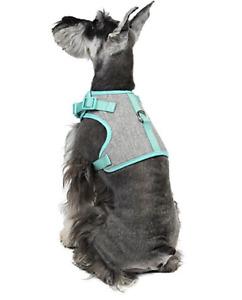 Martha Stewart Fashionable Tweed Dog Harness Mint Bowtie - NEW