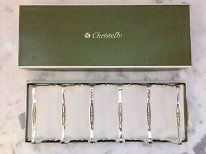 Christofle set of 6 knives rests + BOX RESTKNIVES Silver plated knife