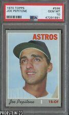 "1970 Topps #598 Joe Pepitone Astros PSA 10 GEM MINT "" Sharp Corners """