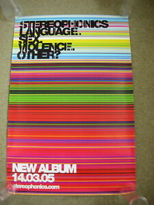 Stereophonics - Language Sex Violence Other - PROMO POSTER