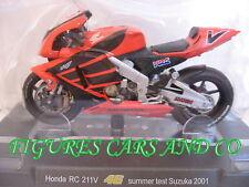 MOTO GP 1/18 HONDA RC 211V # 46 COLLECTION  ROSSI SUMMER TEST SUZUKA 2001