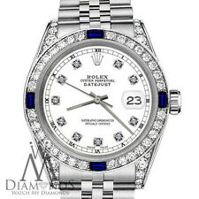 Rolex 26mm Datejust White Color Dial with Sapphire & Diamond RT Watch