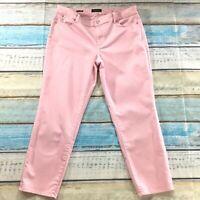 "Talbots Womens Jeans size 16 new Pink Boyfriend Straight Leg x29"" Cotton Stretch"