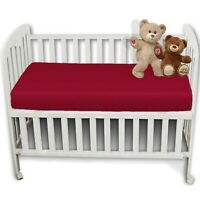 100% Poly Cotton Full Fitted Sheet Bed Sheets COT BED 70X140CM RED PINK BLUE