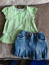 Denim NEXT Floral Clothing (0-24 Months) for Girls