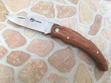 Couteau de poche Berger Corsica avec manche en bois de teck