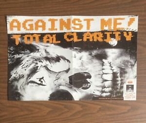 AGAINST ME TOTAL CLARITY PROMOTIONAL POSTER 11X17 FOLDED FAT WRECK CHORDS