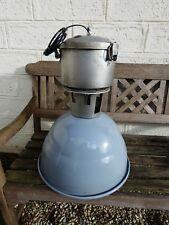 Lampe Industrielle PHILIPS 1950 Suspension Métal Tôle émaillée Atelier Usine