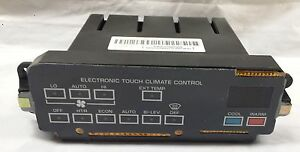NEW OEM Electronic Touch Climate Control Fits Lesabre Electra W/O Rear Defrost