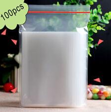 100PCS 4cm x 6cm Plastic Clear Zip Zipper Ziplock Reclosable Storage Bags Useful