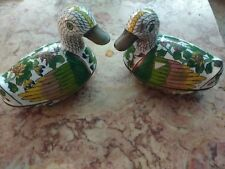 Antique Early Rare Cloisonne Pair Ducks Make Offer