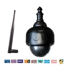 Zoom Waterproof PTZ Wireless Wifi 355° 90° IP Camera Night Vision Audio Video IR