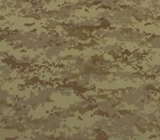 """DIGITAL CAMOUFLAGE CAMO TAN BROWN POLYESTER WOVEN RIPSTOP FABRIC BY YARD 60""""W"""