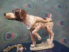 German Pointer Enamel Box & Matching Necklace #62670