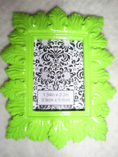 """4"""" Tall x 3.25"""" Wide Rectangle Lime Green Easel Back Table Top Photo Frame"""